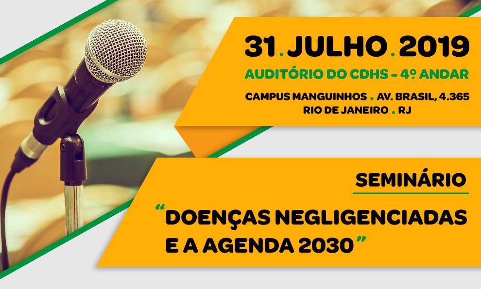 'Doenças Negligenciadas e a Agenda 2030' é tema de seminário na Fiocruz